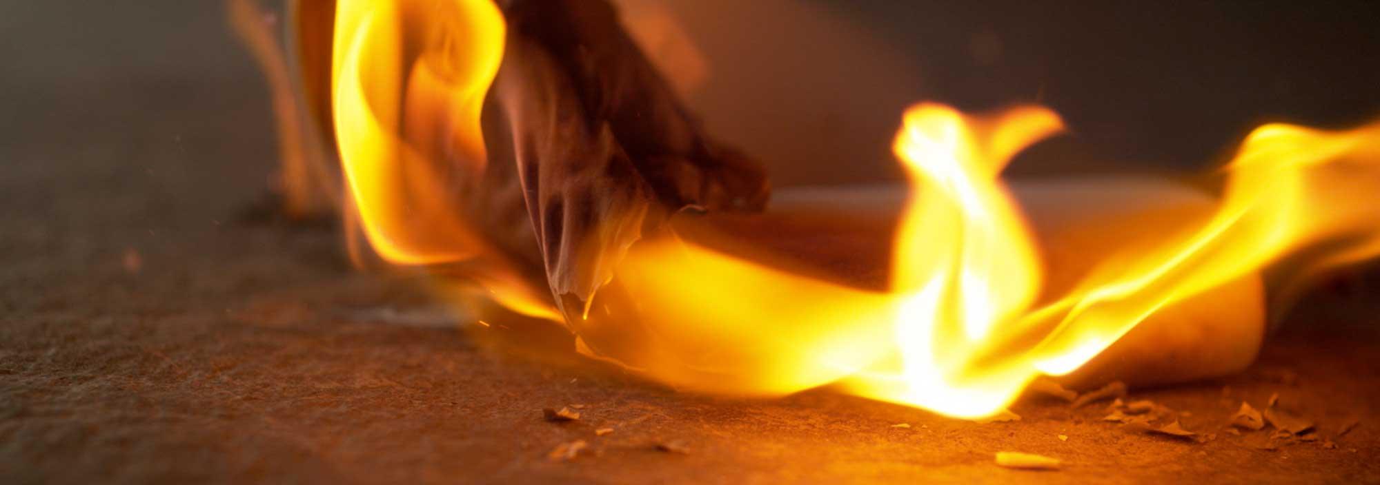 La ceramica non brucia