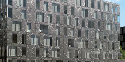facciata ventilata modulare lastre in gres porcellanato