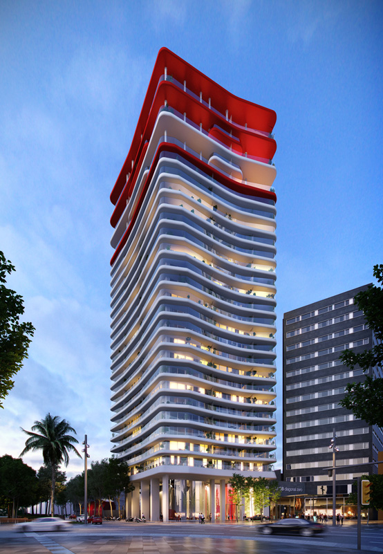 Antares residential tower, Barcelona