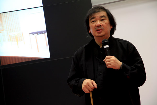 Shigeru Ban a Cersaie 2012
