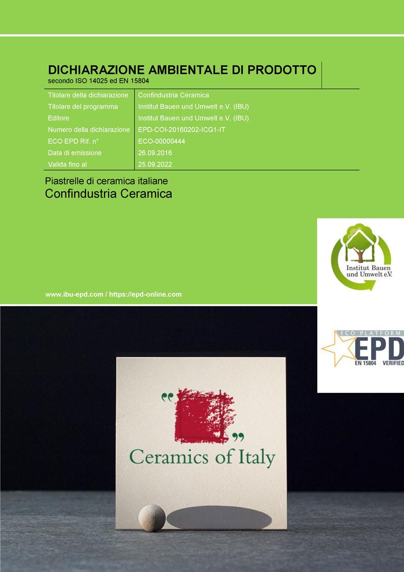 EPD Piastrelle di ceramica italiane
