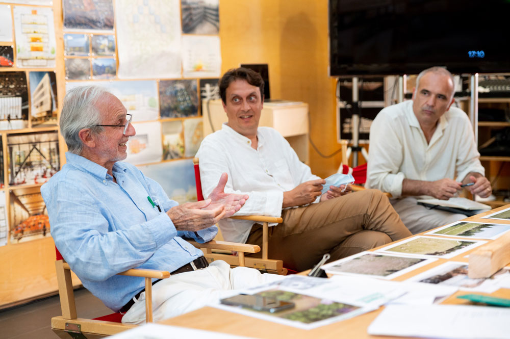 Renzo Piano e i responsabili scientifici del G124