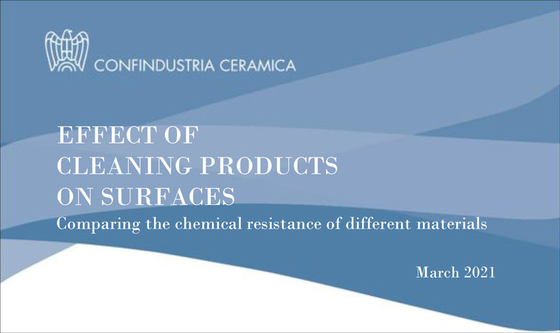 Effect of cleaning products on surfaces
